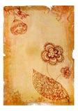 Papel velho isolado no branco ilustração royalty free