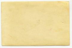 Papel velho isolado no branco Imagens de Stock
