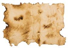 Papel velho isolado no fundo branco Vista superior Imagens de Stock Royalty Free