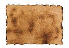 Papel velho isolado no fundo branco Vista superior Fotografia de Stock