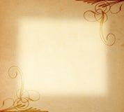 Papel velho no ornamento do frame imagens de stock
