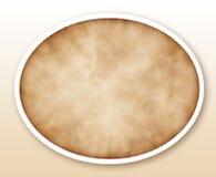 Papel velho oval isolado no branco Fotografia de Stock