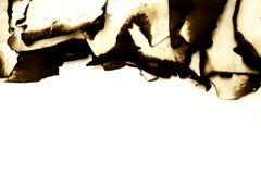 Papel velho queimado Fotografia de Stock