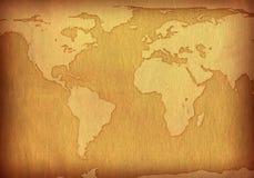 Papel velho textured mapa Imagens de Stock Royalty Free
