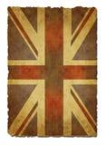 Papel velho Union Jack ilustração do vetor