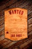 Papel velho vazio na perspectiva de uma madeira envelhecida Imagem de Stock Royalty Free