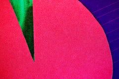 Papel verde e azul cor-de-rosa fotografia de stock