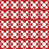 Papel vermelho do cor de Digitas e o branco dos círculos Foto de Stock Royalty Free