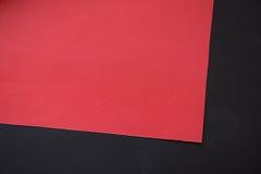 Papel vermelho e preto para a ideia dos ofícios Fotos de Stock Royalty Free