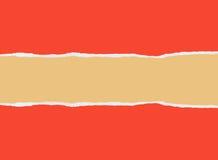 Papel vermelho rasgado Foto de Stock Royalty Free