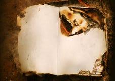 Papel viejo ardiente, papel del vintage imágenes de archivo libres de regalías