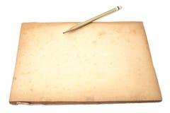papel viejo con el lápiz Foto de archivo