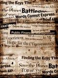 Papel viejo con el texto Imagen de archivo libre de regalías