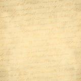 Papel viejo con la escritura Foto de archivo libre de regalías