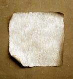 Papel viejo con los bordes quemados fotos de archivo