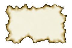 Papel viejo con los bordes quemados foto de archivo libre de regalías