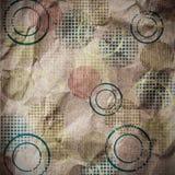 Papel viejo con los círculos Imagenes de archivo