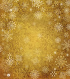 Papel viejo con los copos de nieve Imagen de archivo