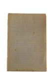 Papel viejo de la nota para revelar amarillear, espacio en blanco, alineado Imagen de archivo libre de regalías