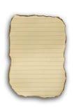 Papel viejo de la quemadura Fotografía de archivo libre de regalías