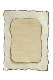 Papel viejo de la quemadura Imagen de archivo libre de regalías