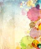 Papel viejo de la textura con las manchas de óxido de la pintura Foto de archivo libre de regalías