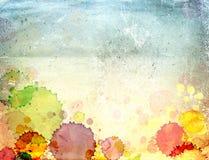 Papel viejo de la textura con las manchas de óxido de la pintura Imagen de archivo libre de regalías