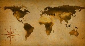 Papel viejo del mapa de la palabra Fotos de archivo libres de regalías