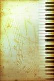 Papel viejo del piano Fotos de archivo