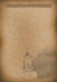 Papel viejo del vintage del fondo del menú del té para cualquier diseño Foto de archivo