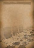 Papel viejo del vintage del fondo del menú del té para cualquier diseño imágenes de archivo libres de regalías