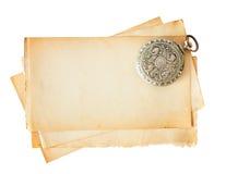 Papel viejo en blanco Fotografía de archivo libre de regalías