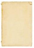 Papel viejo en blanco vertical del vintage Fotografía de archivo