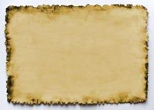 Papel viejo quemado Imágenes de archivo libres de regalías
