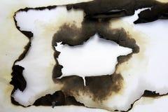 Papel viejo quemado Fotos de archivo libres de regalías