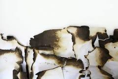 Papel viejo quemado Imagen de archivo libre de regalías