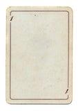 Papel viejo vacío aislado de tarjeta que juega Foto de archivo