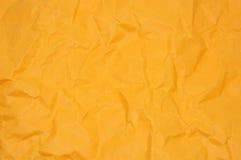 Papel vincado laranja Imagens de Stock