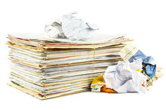 Papel Waste Imagem de Stock Royalty Free