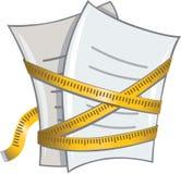 Papel y cinta de medición stock de ilustración