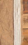 Papel y cuerda del vintage Imagen de archivo