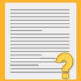 Papel y cuestionario del cuaderno libre illustration