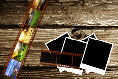Papel y foto de la vendimia Imágenes de archivo libres de regalías