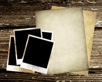 Papel y foto de la vendimia Fotografía de archivo libre de regalías