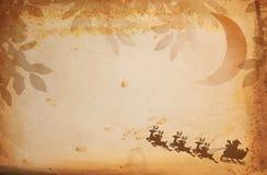 Papel y Papá Noel de la vendimia Foto de archivo