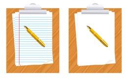 Papel y pluma Stock de ilustración