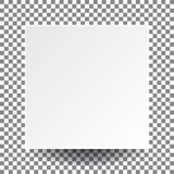 Papel y sombra real, nosotros de casilla blanca del espacio en blanco del vector del ejemplo Imagenes de archivo