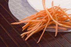 Papel y zanahorias de arroz Imágenes de archivo libres de regalías