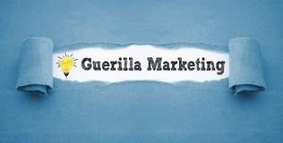Papeleo con el márketing de la guerrilla fotos de archivo