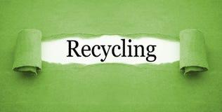 Papeleo con el reciclaje imágenes de archivo libres de regalías